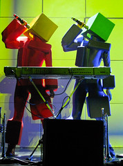 Pet Shop Boys Concert - Robots singing 'Heart'