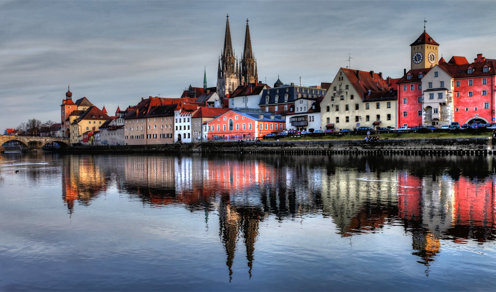 Regensburg Citycenter Blue Hour Flickr Photo Sharing