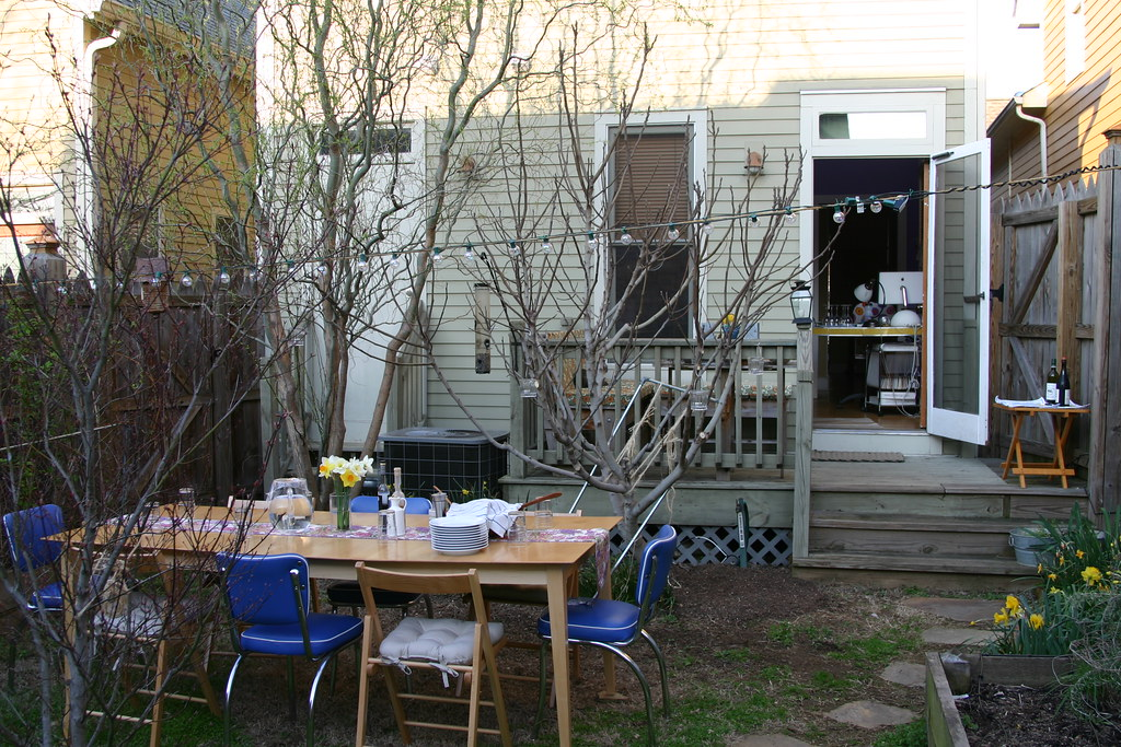 What - you've never taken your dining table outside?