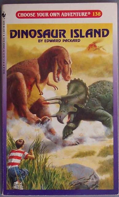 choose your own adventure 138: dinosaur island from Flickr via Wylio