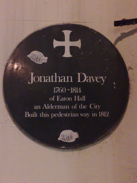 Photo of Jonathan Davey green plaque