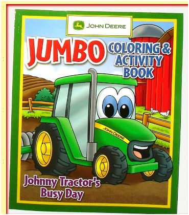 A john deere coloring book free coloring pages for Johnny tractor coloring pages