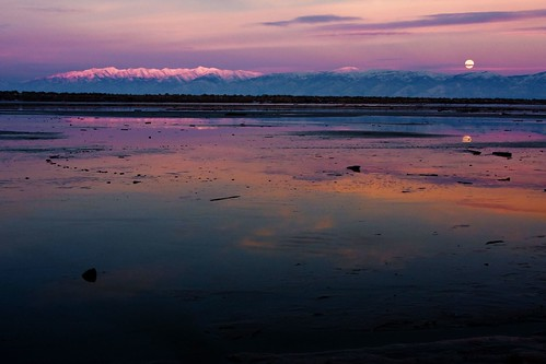 sunset moon lake water night clouds utah twilight bravo cloudy dusk saltlakecity greatsaltlake moonrise supershot bej mywinners abigfave platinumphoto anawesomeshot diamondclassphotographer theunforgettablepictures goldstaraward