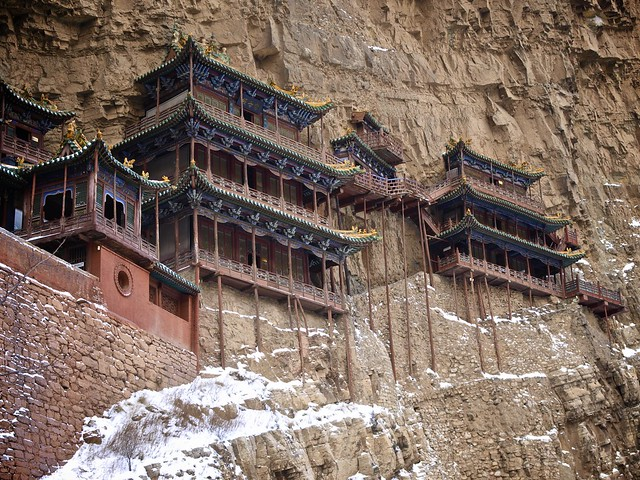 Xuankong si hanging monastery near datong china flickr for Architecture si