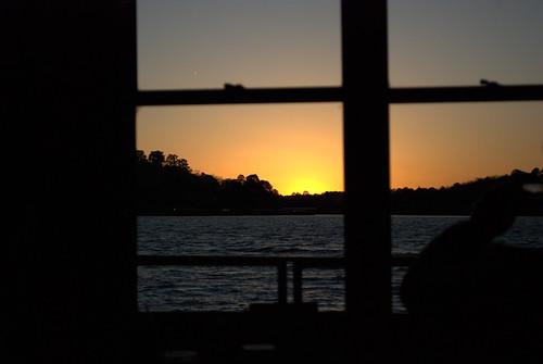 sunset lake window hotsprings thebiggestgroup baronsquirrel