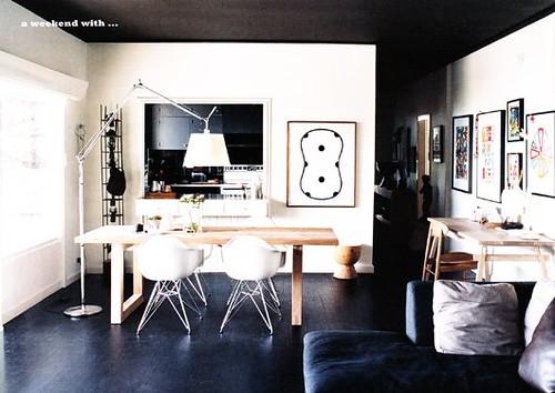 Black floor black ceiling white walls sydney home of for White walls black ceiling