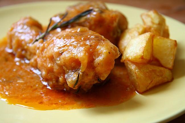 El famoso pollo a la pantoja mercado calabaj o - Pollo de corral guisado ...