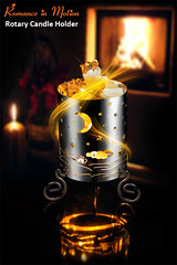 Rotary Candle Holder -- Dancing Top by Debrace