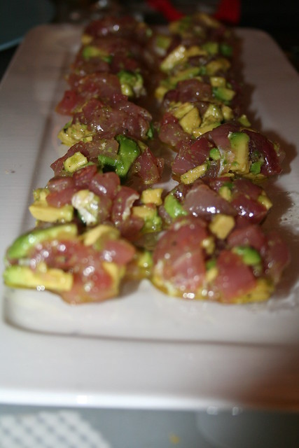 Fresh tuna and avocado tuna tartar recipe recipe tuna for Fresh tuna fish recipes