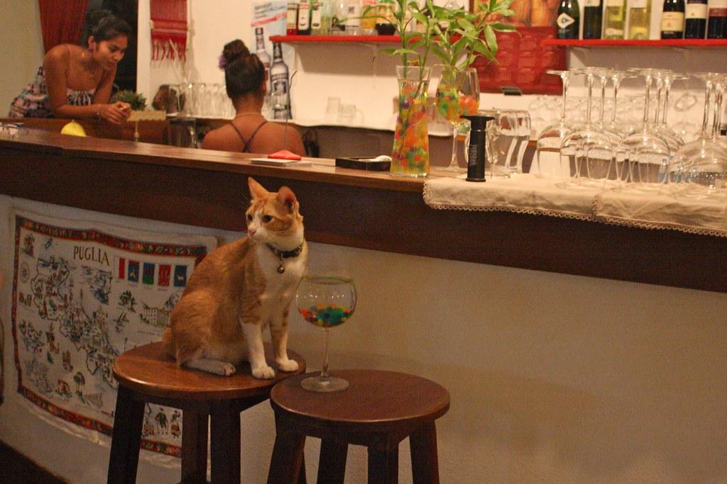 På bar
