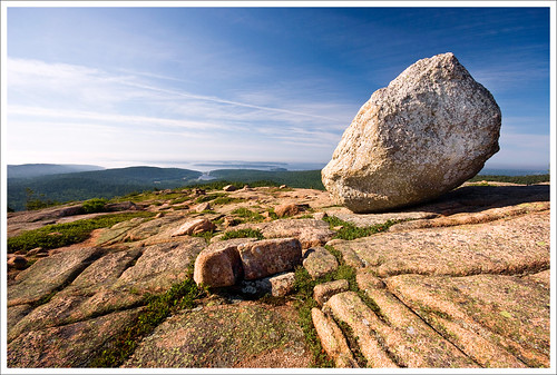 anp maine boulder hike mountdesertisland mdi acadianationalpark erratic penobscotmountain