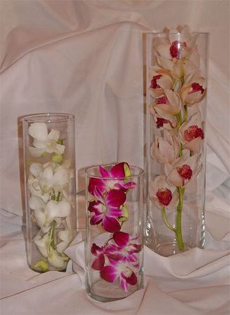 stem of orchids makes an elegant centerpiece Wedding at the Scottish