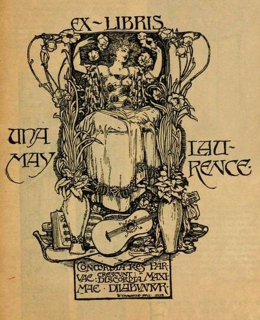 Bookplate of Una May Laurence