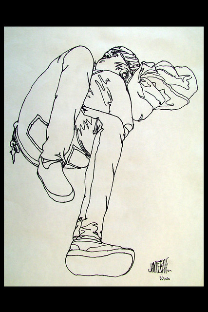 Contour Line Drawing Of Figures : Contour drawings a gallery on flickr