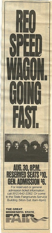 08/30/88 REO Speedwagon @ MN State Fair, St. Paul, MN