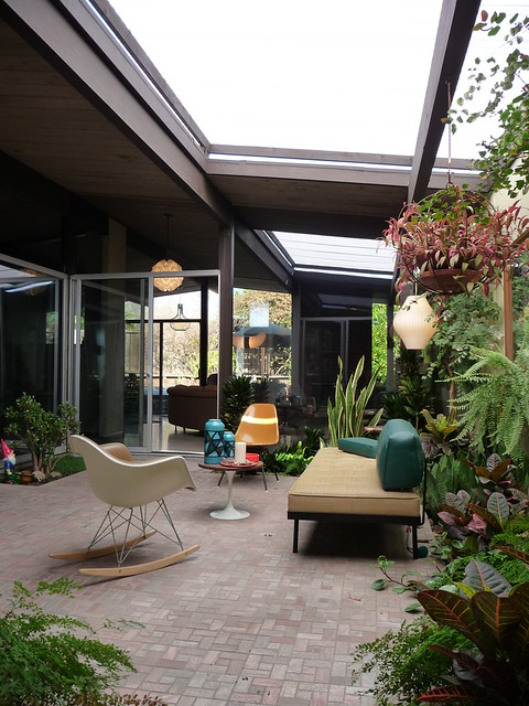 Eichler atrium flickr photo sharing for Eichler flooring