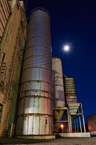 blue urban moon building metal night landscape evening nikon industrial cityscape searchthebest decay steel weld eerie structure silo moonlit co moonlight bluehour prairie agriculture grassland lunar 2009 grasslands afterdark neco ault d300 catchycolorsblue clff sensationalphoto