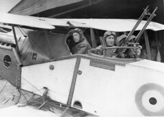 Major Syd Addison and Lieutenant Hudson Fysh in a Bristol Fighter aircraft by Australian War Memorial collection