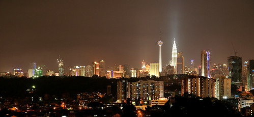 Skyline of Kuala Lumpur from the apartment