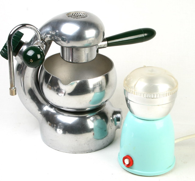 Atomic Coffee Maker How To Use : Atomic Coffee Maker with Grinder and Sorrentina Bakelite ...