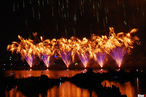 The international firework competition at Da Nang, Australia's team