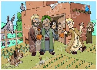 Luke 15:11-12 - The Prodigal Son - Scene 01 - Young son leaves home