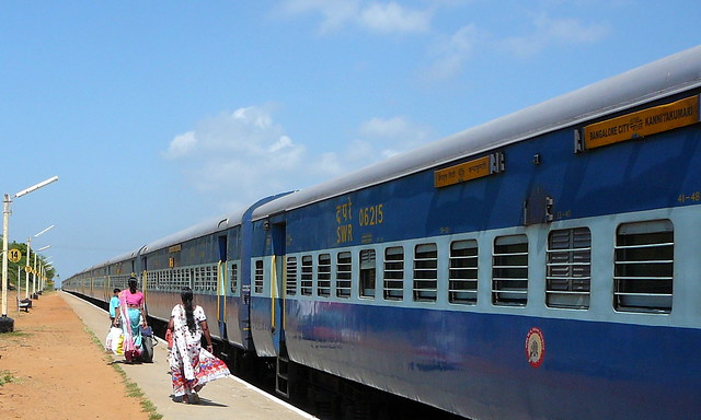 Kanyakumari - Bangalore Express, on the way to Kollam (Quilon)