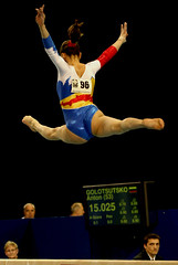 floor gymnastics(0.0), uneven bars(0.0), rings(0.0), balance beam(1.0), sports(1.0), gymnastics(1.0), gymnast(1.0), artistic gymnastics(1.0),