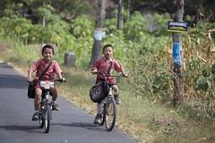 Back home after school near Borobudur