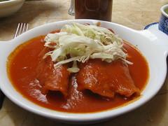 Echiladas de jamaica