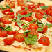 Tomato, mozzarella, pinenut and basil tart