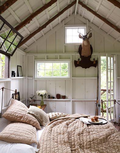 Rustic Modern White Bedroom