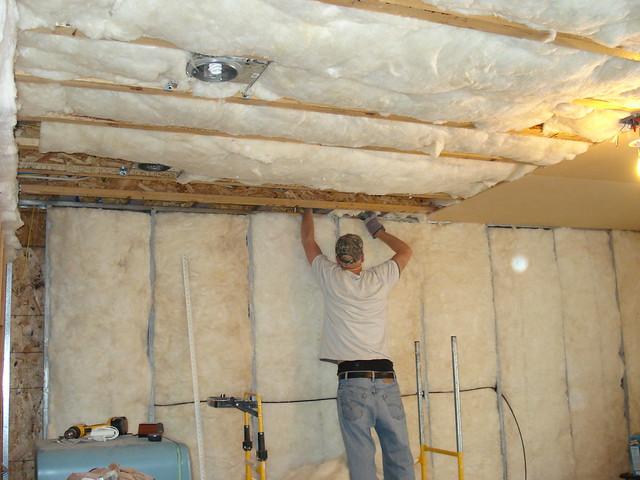basement wall insulation spray foam insultation on basement walls