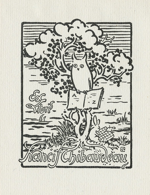 [Bookplate of Francin Thibaudeau]