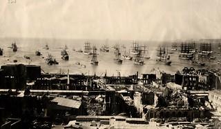 1906 Valparaiso tras el terremoto.