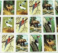 Five cent U.S. stamp sheet - National Wildlife Federation