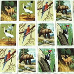 Five cent U.S. stamp sheet - National Wildlife Federation
