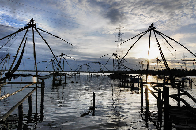 The Rising - Chinese Fishing Nets, Fort Kochi, Kerala