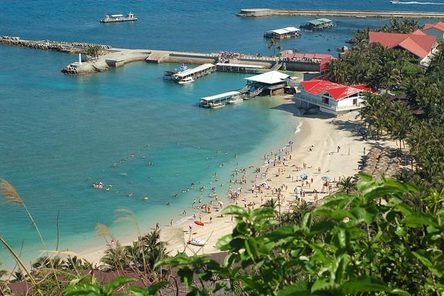 海南省陵水市分界洲岛-沙滩全景