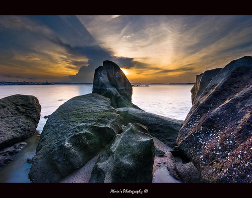 """Rocks in Changi"" :: Changi Beach Singapore HDR"