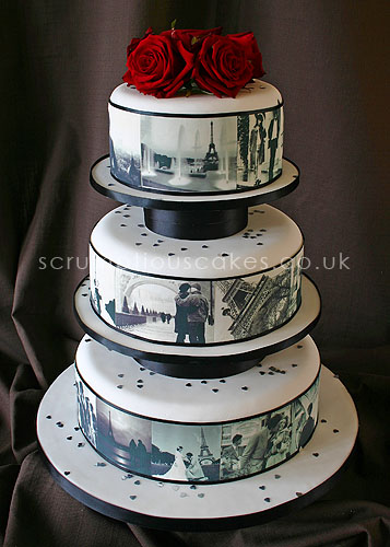 Wedding Cake 461 Edible Paris Pictures Amp Fresh Roses