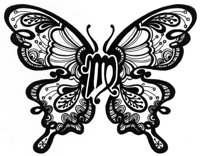 Custom Butterfly/Zodiac Tattoo