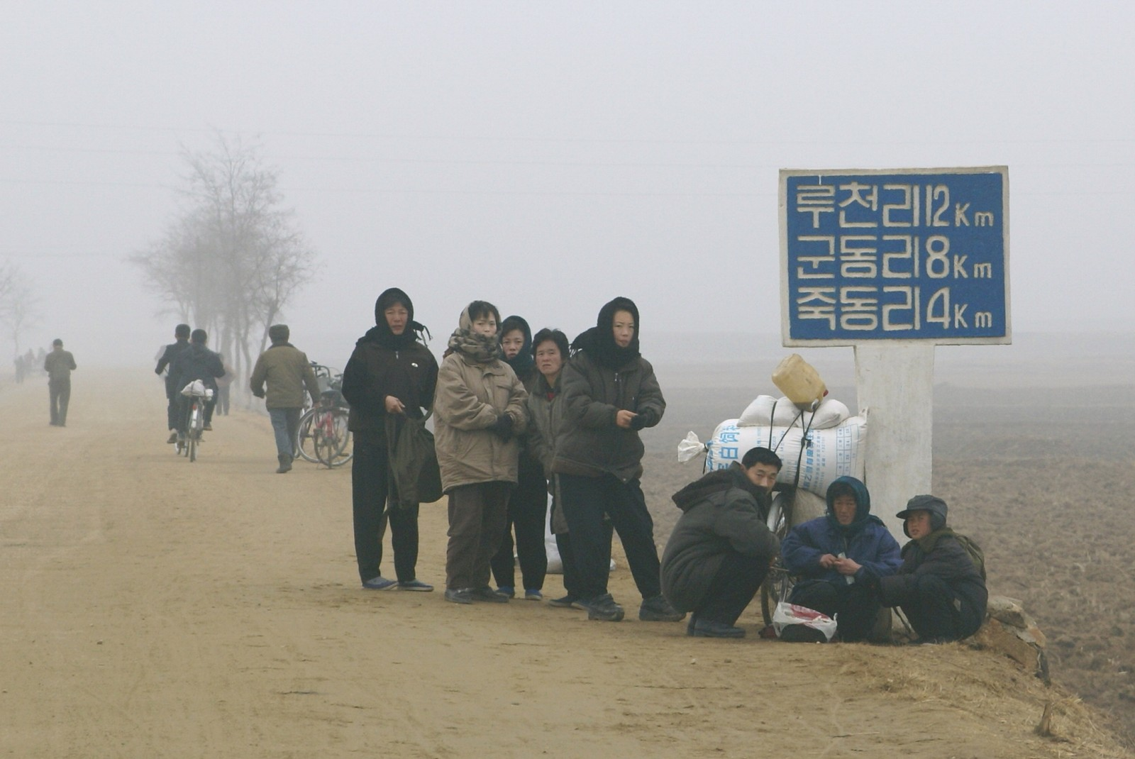 Roadside scene in Pongchon County