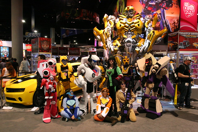 Transformers Animated Cosplay Group