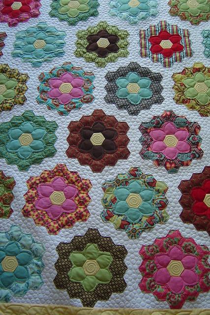 Grandmother 39 s flower garden flickr photo sharing - Grandmother s flower garden quilt ...