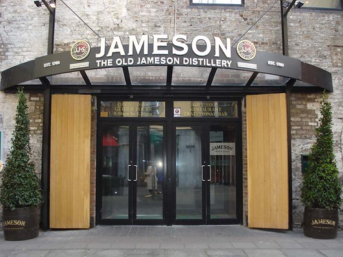 The entrance to the Old Jameson Distillery, Dublin, Ireland.