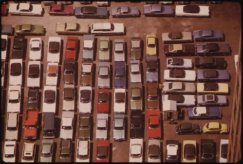 bird's eye view parking lot