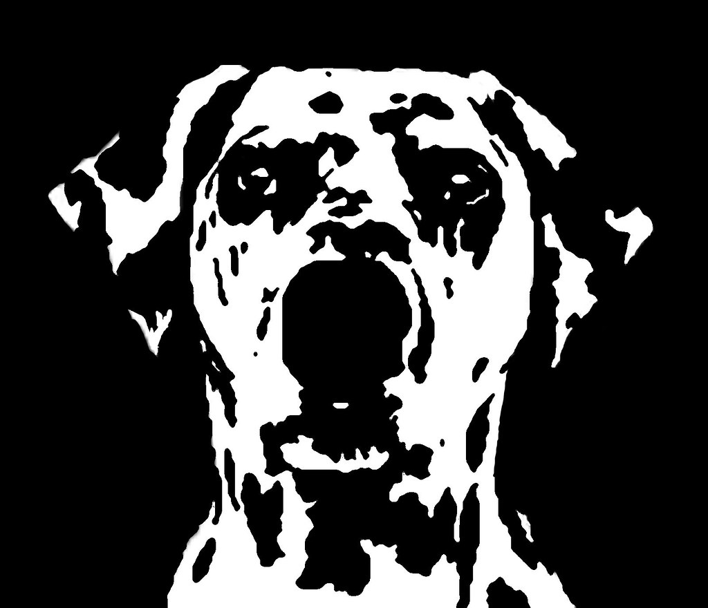Dalmatian Black & White Stencil Dog Art Print   Check out ...