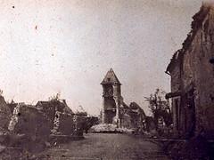 2éme bataille de la Marne - Contre-Offensive  de 1918 - Ruine de Dammard (photo VestPocket Kodak Marius Vasse 1891-1987)