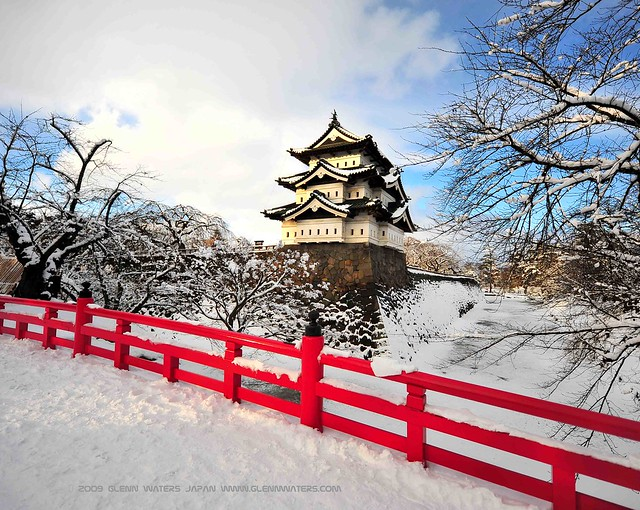 Hirosaki Castle Winter © Glenn Waters (Explored)  20,200 visits to this photo. Thank you.